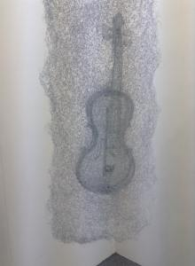 """""""Light - Strings"""" by Shi Jindian. Made from coloured stainless steel wire."""