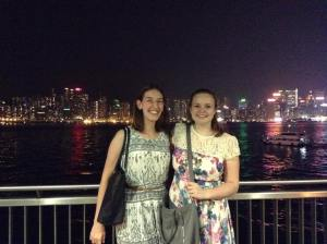 Me and Belce with Hong Kong Island in the background.